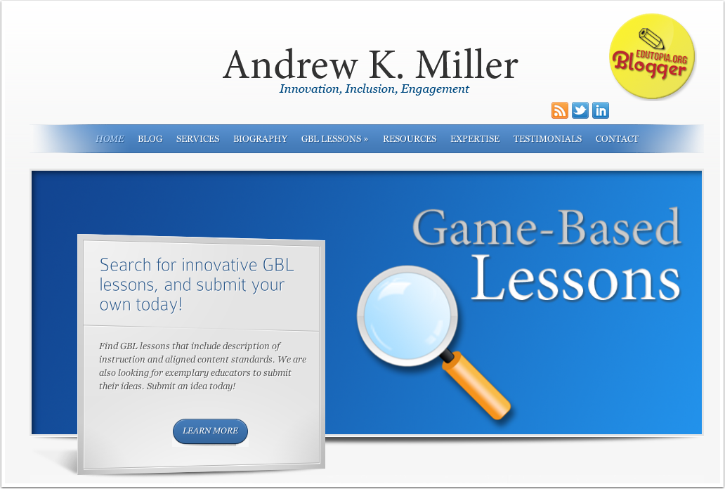 Andrew K Miller Game Based Learning