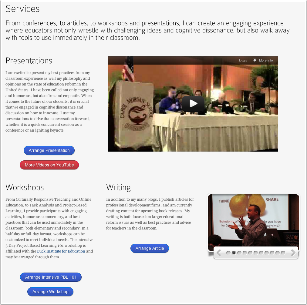 Andrew Miller's Services Page