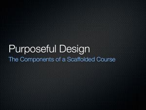 Training Purposeful Design