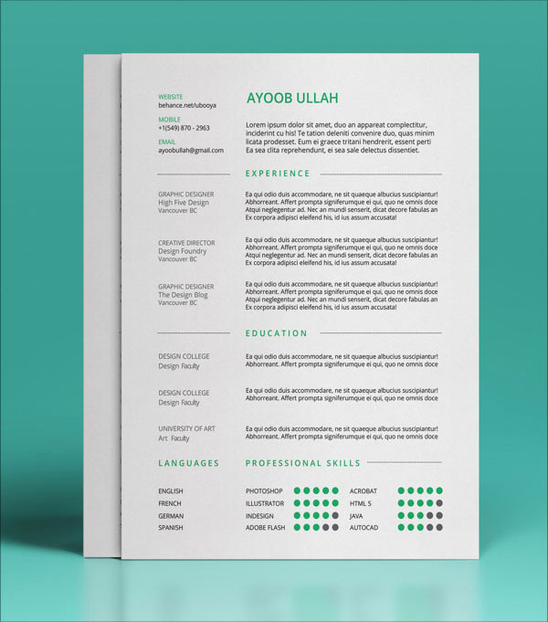 indesign-resume-template